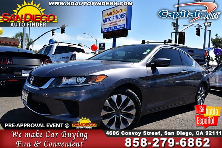2014 Honda Accord Coupe LX-S,Low Miles,Like New,Real Nice, SdAutoFinders.com,Clean carfax,Don't miss it,