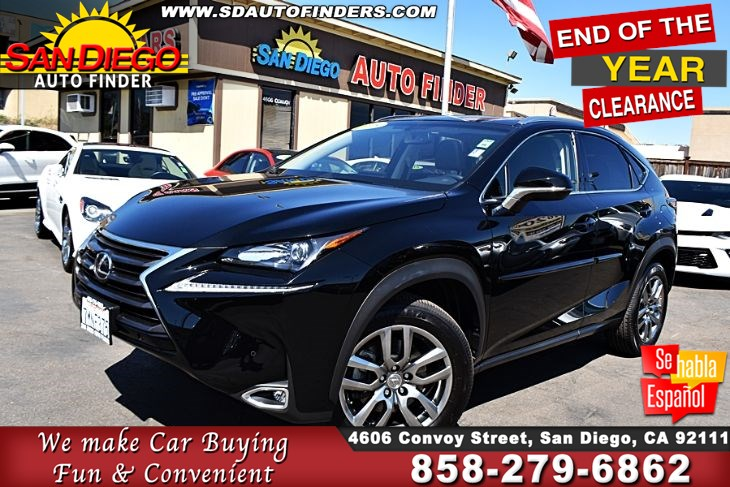 2015 Lexus NX200t,Navigation MoonRoof Leather Seats 16K Miles 1-Owner Cln Carfax SdautoFinders.com,