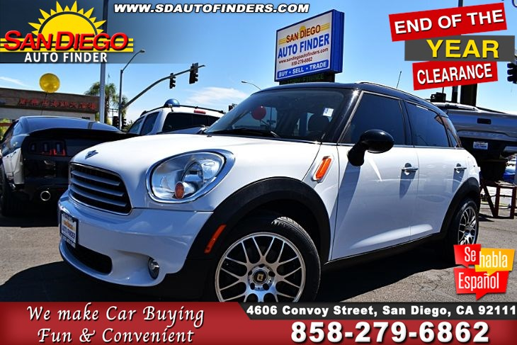 2012 MINI Cooper Countryman, Navigation 35MPG Leather Seats Clean Carfax SdAutoFinders.com,