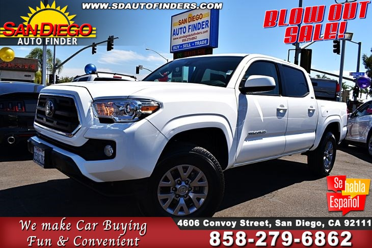 2019 Toyota Tacoma SR5 Double Cab 2.7L 4 Cylinders 14K Miles1-Owner SdAutoFinders.com,