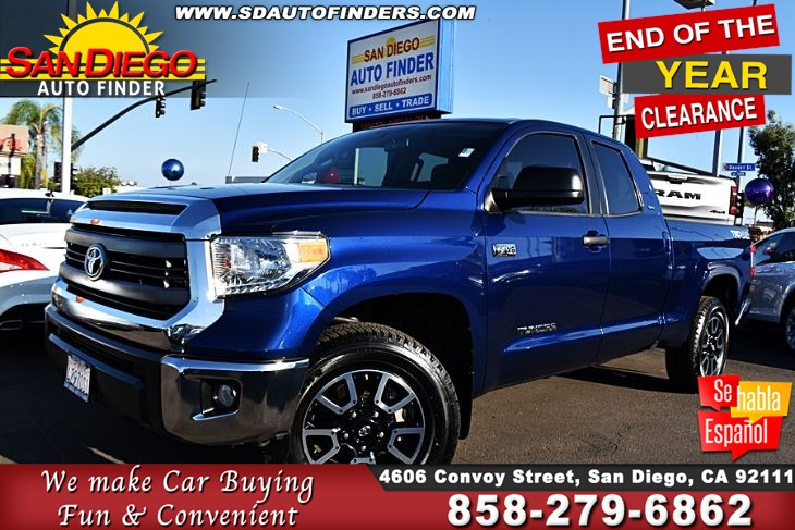 2014 Toyota Tundra SR5 Double Cab 4X4  iForce 5.7 Liter V8 Navigation Clean Carfax SdAutoFinders.com,