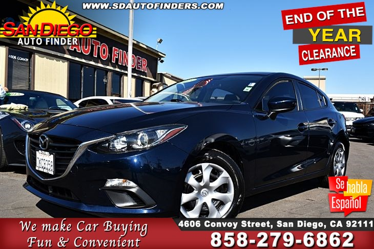 2015 Mazda 3 HatchBack Sport, 1-Owner Clean Carfax! 40mpg GREAT DEAL!! SdAutoFinders.com