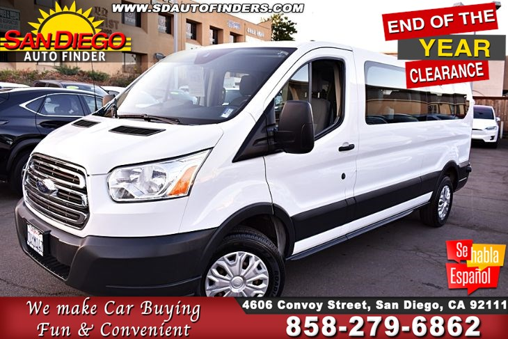 2017 Ford Transit T-350 ( 15 Passenger ) Clean Carfax GREAT DEAL!! SdAutoFinders.com,