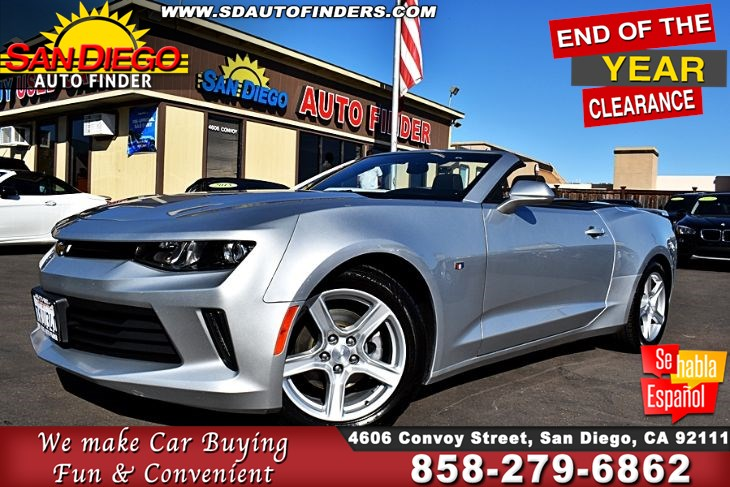 "2018 Chevrolet Camaro Conv. 1 owner,Just immaculate, SdAutoFinders.com,Clean Carfax,""GREAT PRICE""."