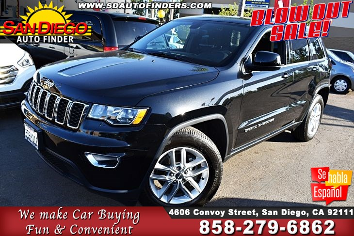 2018 Jeep Grand Cherokee Laredo E Navigation Clean Carfax 1-Owner SdAutoFinders.com,