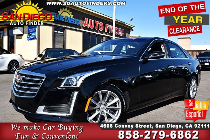 12k In Miles >> 2019 Cadillac Cts Sdn 2 0l Turbo Luxury 1 Owner 12k Miles Navi Panoroof Loaded Sdautofinders Com Like New San Diego Auto Finder