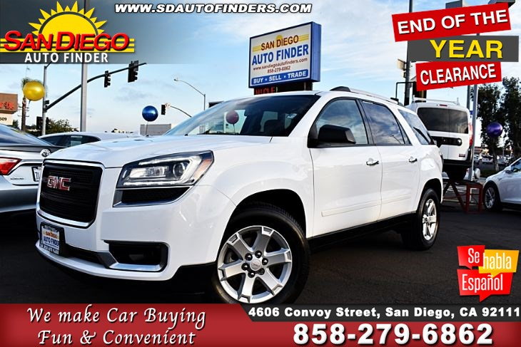 "2016 GMC Acadia SLE,3.6 Liter V6 8-Passenger Clean Carfax,""GREAT PRICE"" SdAutoFinders.com"