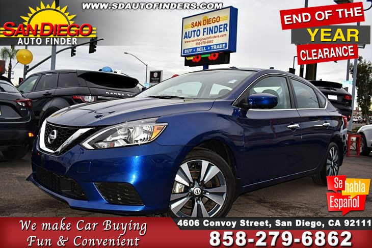 2019 Nissan Sentra SV 1-Owner 'SPECIAL EDITION '  Clean Carfax MoonRoof 37mpg Sdautofinders.com