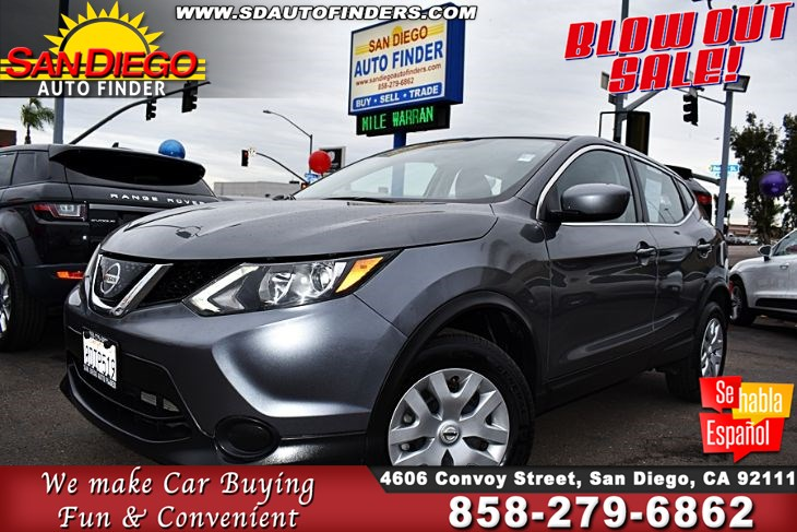 2018 Nissan Rogue Sport 1-Owner Clean Carfax 2.0L 4 Cylinders 32mpg Sdautofinders.com