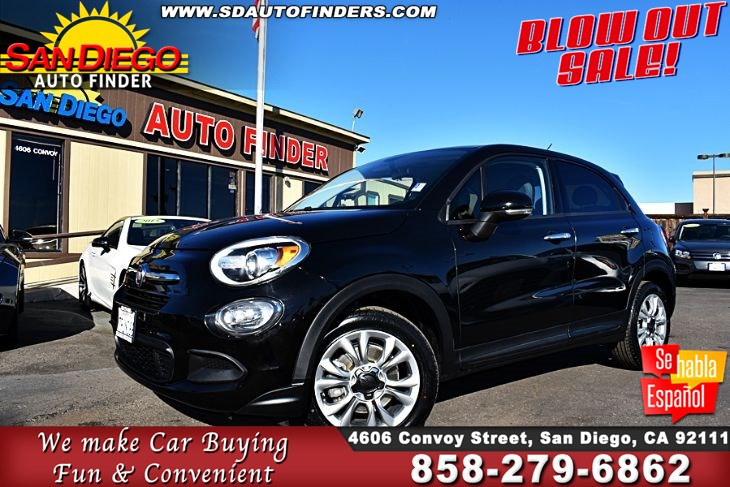 2016 FIAT 500X Easy, Clean Carfax 31mpg GREAT DEAL!  SdAutoFinders.com