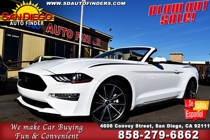 2018 Ford Mustang  EcoBoost Premium Convertible 1-Owner ,Clean Carfax  SdAutoFinders.com