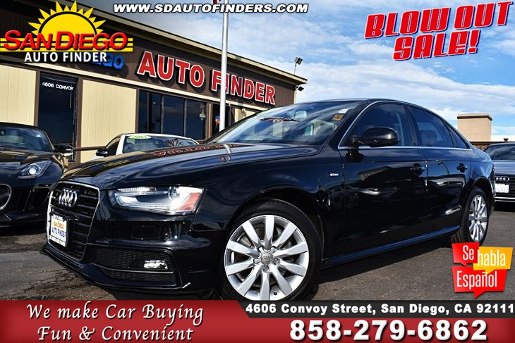 2015 Audi A4 2.0T Premium S-Line Only 22k Miles, 1-Owner,Don't Miss it,..  SdAutoFinders.com,  .