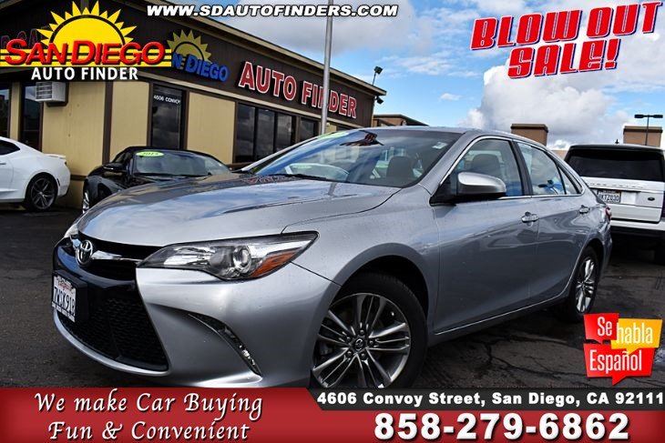 "2017 Toyota Camry SE Clean Carfax 33mpg 1-Owner, ""GREAT DEAL""  SdAutoFinders.com,"