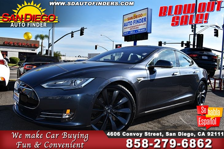 2015 Tesla Model S85,AutoPilot ,Air Suspension Turbine Rim's Generation Seats CleanCarfax SdAutoFinders.com,