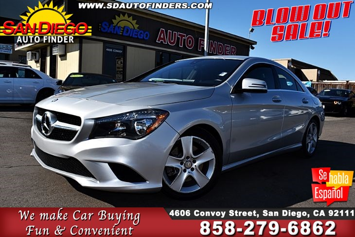 "2015 Mercedes-Benz CLA 250, only 36K MILES, ""GREAT VALUE"" Sdautofinders.com,"