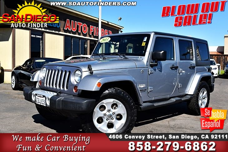 2013 Jeep Wrangler Unlimited Sahara 4X4 Navigation Leather Seat's 1-Owner Sdautofinders.com
