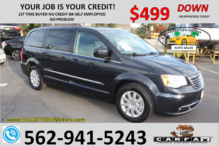 2013 Chrysler Town & Country Touring - Backup Cam, 3rd Row, Leather, Navi, DVD