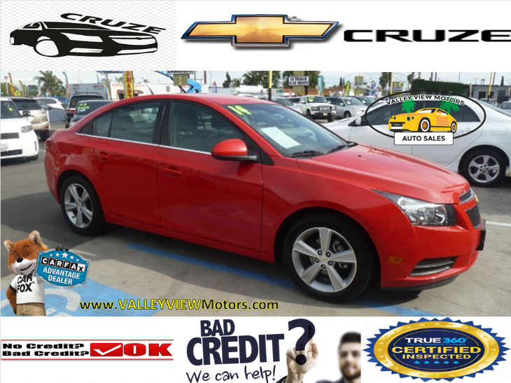 2014 Chevrolet Cruze 2LT- Low Miles, Leather, Power Seats, 4 Cyls, MP3