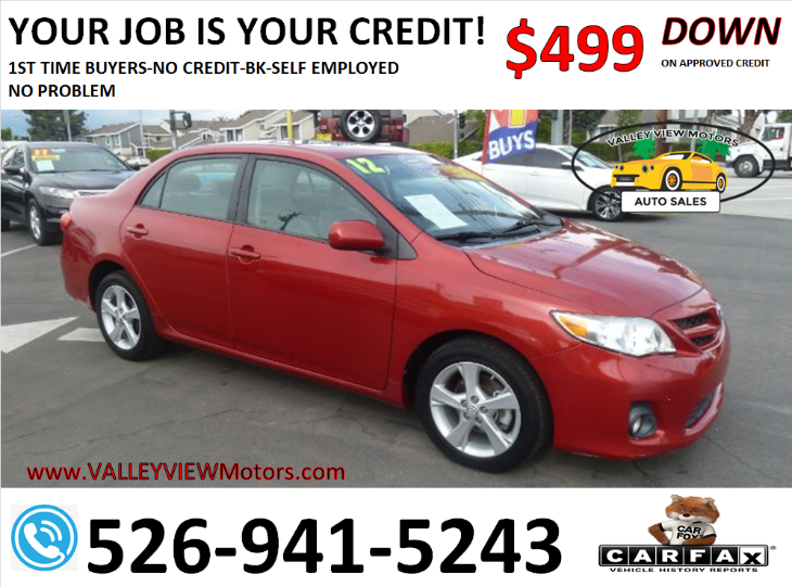 2012 Toyota Corolla LE- 4 Cyls, Low Miles, MP3, Power Seat, SunRoof