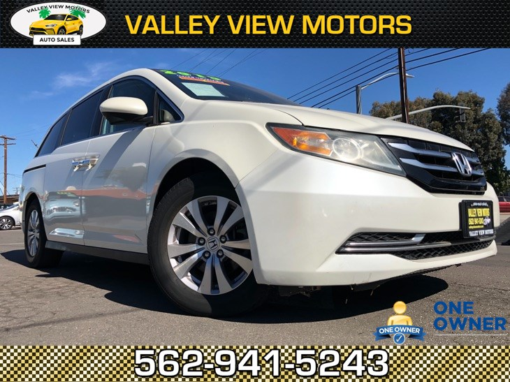 2015 Honda Odyssey EX-L, 1 Owner, Navi, Leather, 3rd Row, Backup Cam