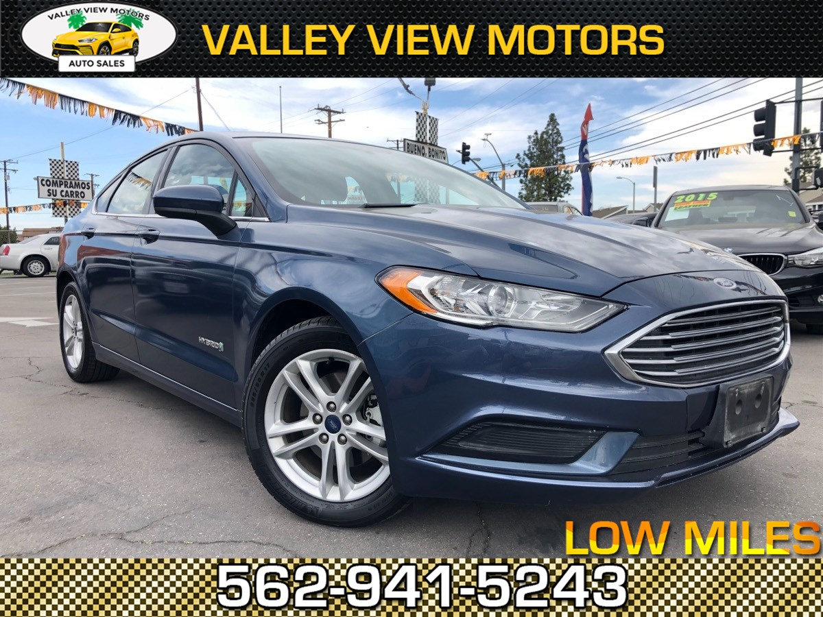 2018 Ford Fusion Hybrid SE LOW 67K Miles, Navigation, Backup Cam, Sensors