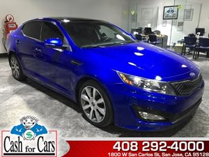 2013 Kia Optima SX Carfax Report  Corsa Blue Pearl Metallic  All advertised prices exclude gov