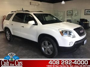 2012 GMC Acadia SLT1 Carfax Report - No AccidentsDamage Reported  White Diamond Tricoat  All