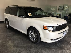 2012 Ford Flex Titanium wEcoBoost Carfax 1-Owner - No AccidentsDamage Reported  Mineral Gray