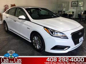 2016 Hyundai Sonata Hybrid SE Carfax 1-Owner - No AccidentsDamage Reported  Diamond White Pear