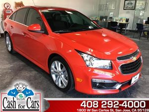 2015 Chevrolet Cruze LTZ Carfax Report - No AccidentsDamage Reported  Red Hot  All advertised