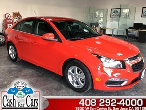 2015 Chevrolet Cruze LT Carfax Report - No AccidentsDamage Reported  Red Hot  All advertised