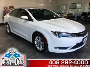 2015 Chrysler 200 Limited Carfax 1-Owner - No AccidentsDamage Reported  Bright White Clearcoat