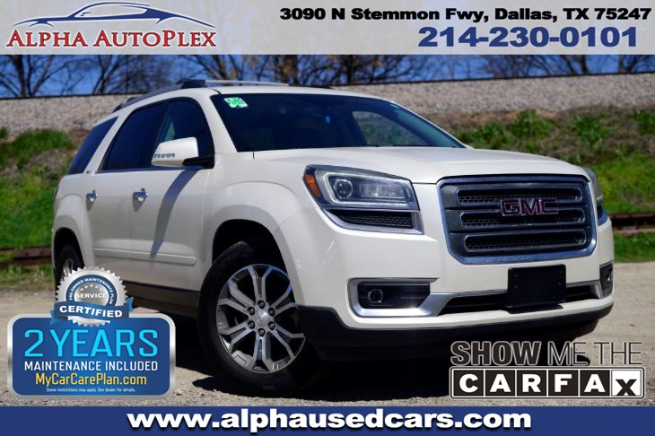 used 2014 gmc acadia slt in dallasadvertised prices and available quantities are subject to change without notice all rates and offers are dependent on bank approval, which varies based on