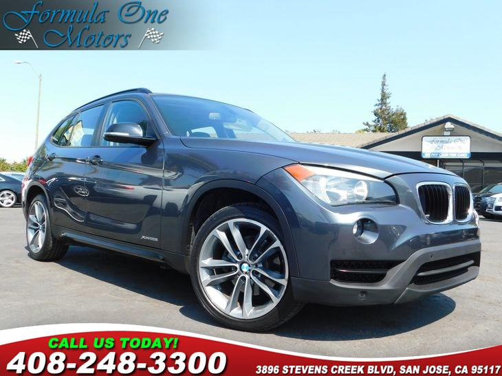 2014 BMW X1 xDrive28i Black WGray-Red Piping Nevada Leather Upholstery Cold Weather Package He