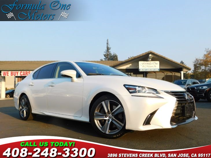 2016 Lexus GS 350  Black Leather-Trimmed Seats Eminent White Pearl Luxury Package One-Touch Po