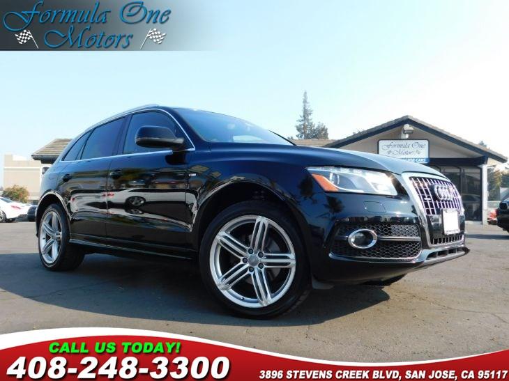 2010 Audi Q5 Premium Plus Black Leather Seating Surfaces Brilliant Black California Emissions