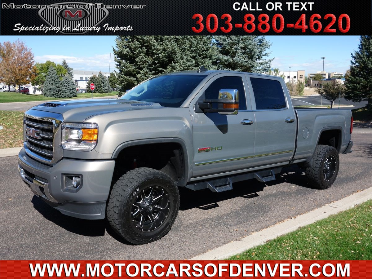 Used 2017 Gmc Sierra 2500hd Slt Hd All Terrain In Centennial Rates And Offers Are Dependent On Bank Approval Which Varies Based Applicants Credit As Well The Vehicle