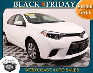 2016 Toyota Corolla L Carfax 1-Owner - No AccidentsDamage Reported 4 Cylinders Air Bag - Fronta