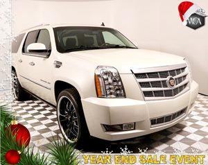 2014 Cadillac Escalade ESV Platinum Carfax 1-Owner - No AccidentsDamage Reported  White Diamon
