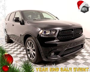 2017 Dodge Durango GT Carfax 1-Owner - No AccidentsDamage Reported Premium Group DB Black Crys