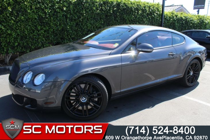2010 Bentley Continental GT With Red Interior
