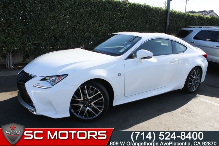 2015 Lexus RC 350 F-SPORT WITH RED INTERIOR