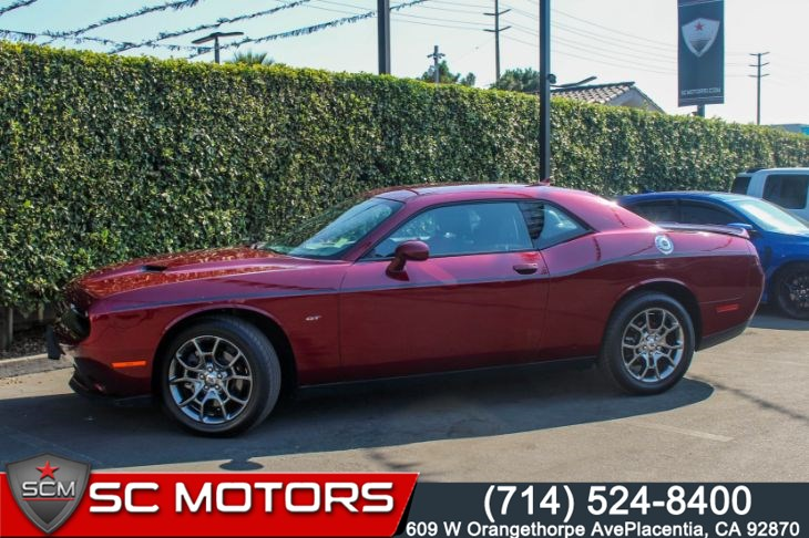 2017 Dodge Challenger GT(RUBY RED/BLACK, SUEDE/NAPPA SEATS & BLUETOOTH)