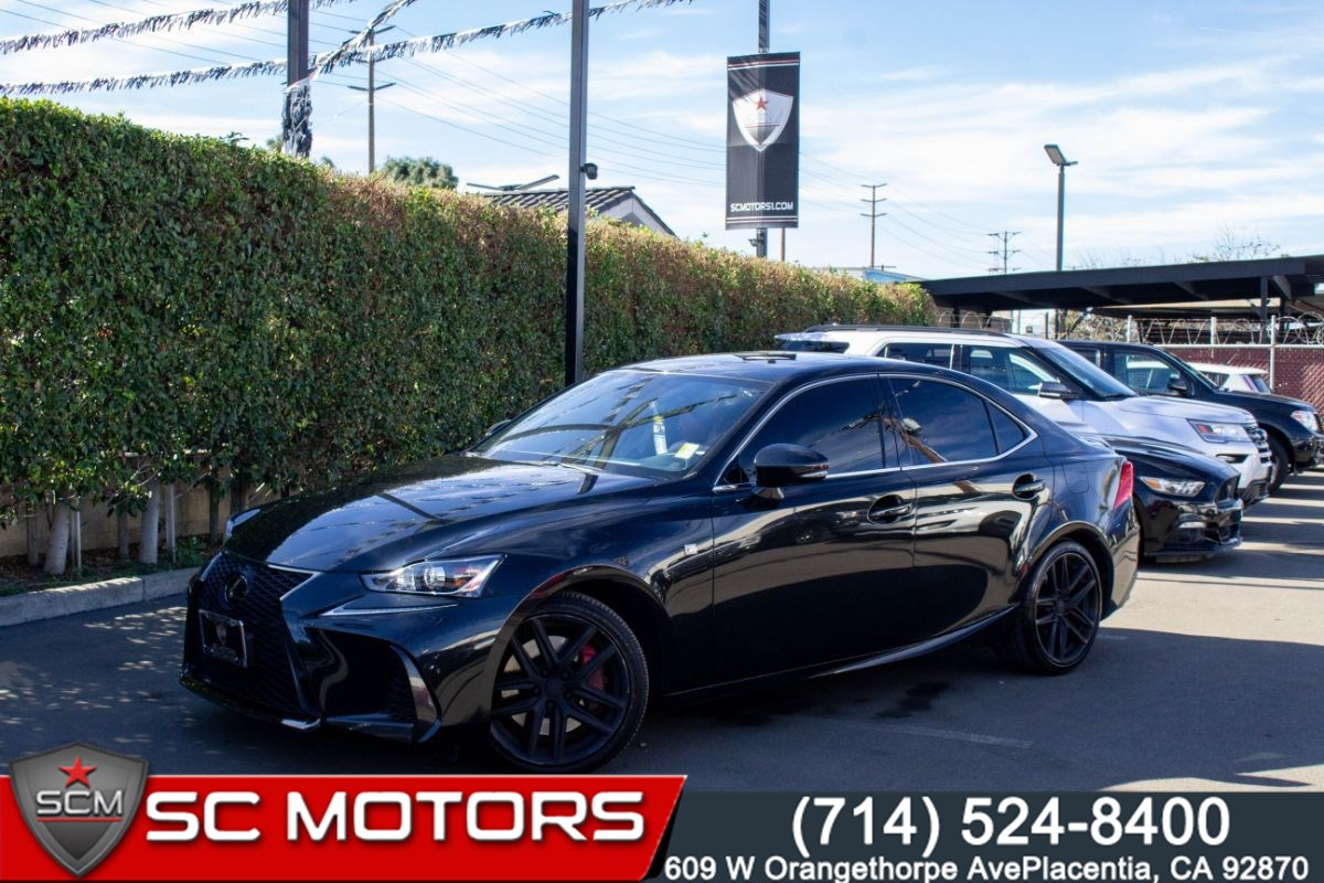 2018 Lexus IS 350 F SPORT ( RED LEATHER SEATS, SUNROOF, NAVIGATION)