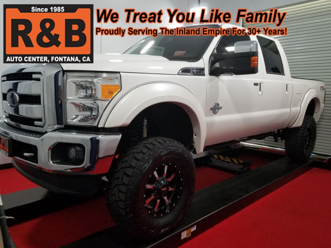 Sold 2014 Ford Super Duty F 350 Diesel 4x4 Lifted Lariat In Fontana Featured