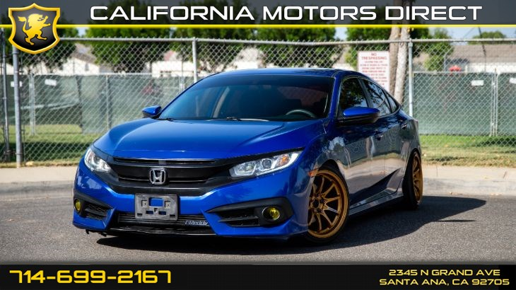 2016 Honda Civic EX-T (Sunroof & Custom Wheels)