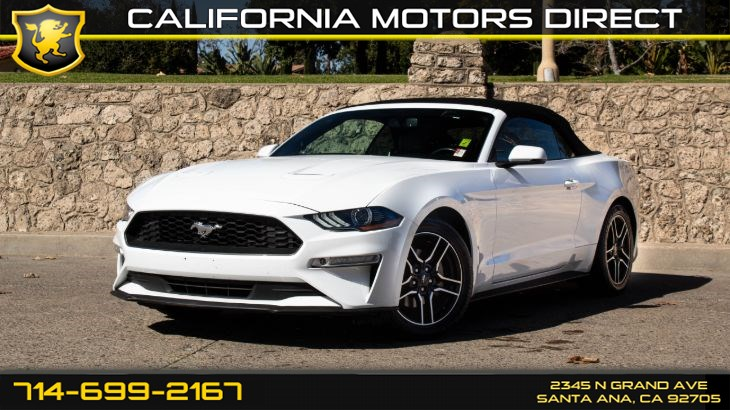 2018 Ford Mustang EcoBoost (Back-Up Camera)