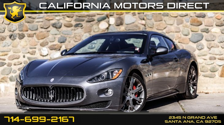 2012 Maserati GranTurismo S (Red Leather Interior + Navi)