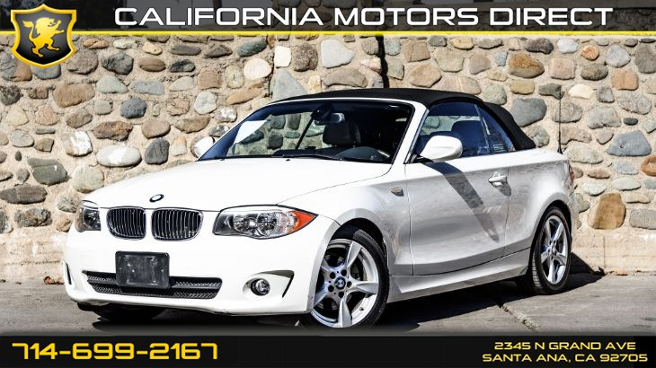 2013 BMW 128i Convertible (Premium & Tech Package)