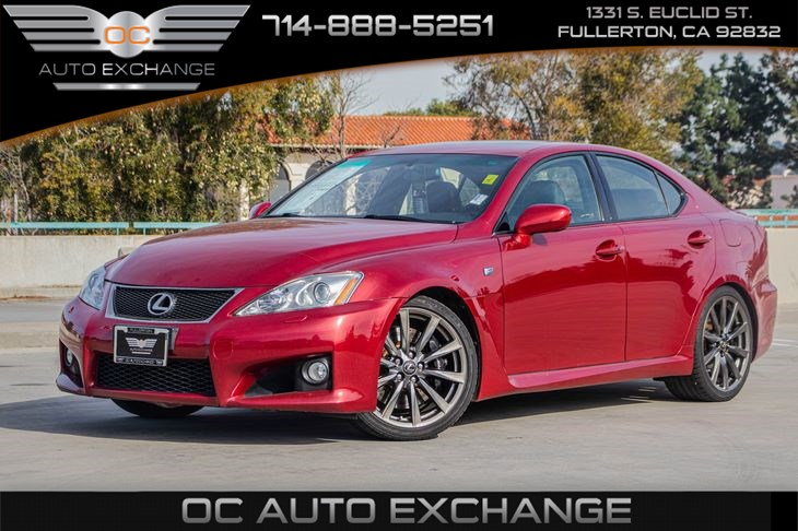"2008 Lexus IS F V8 4dr Sdn (PADDLE SHIFTERS & 19"" 10-SPOKE ALUMINUM ALLOY WHEELS)"